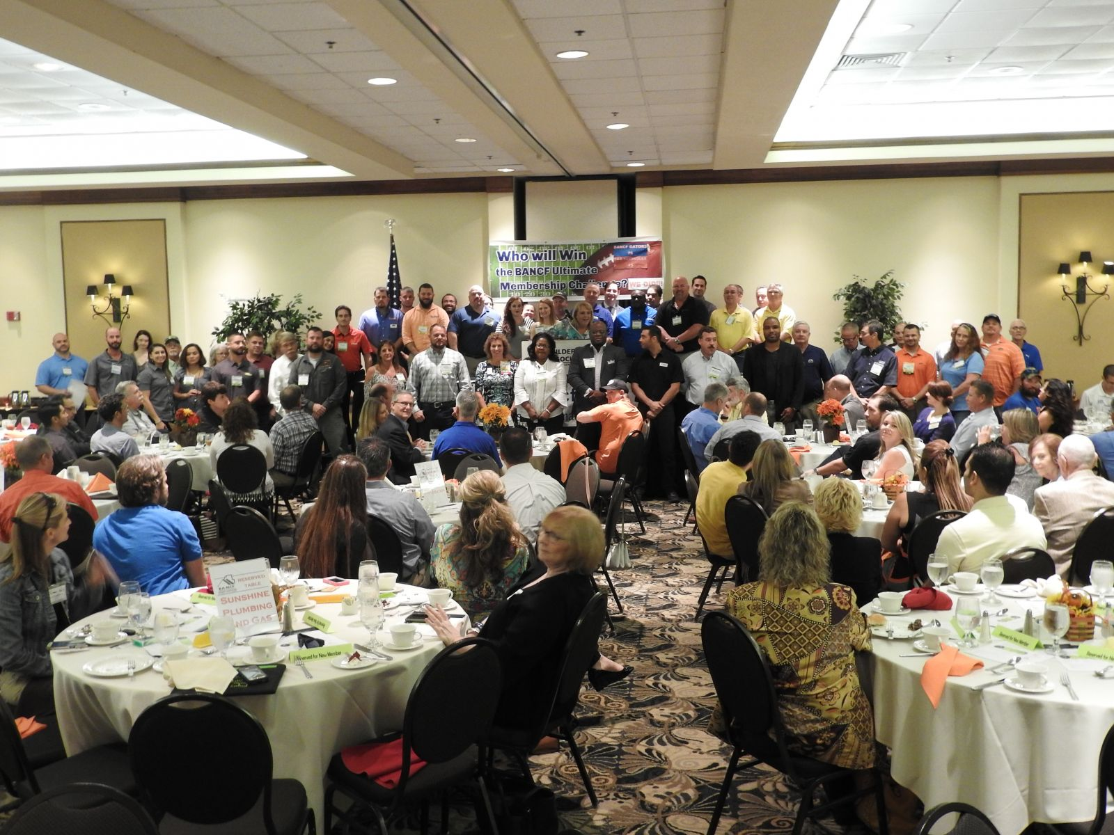 Image of packed Membership Meeting. Click for more reasons to Join BANCF